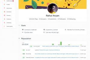 AskBug user profile
